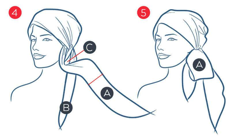 how to tie a headscarf for cancer patients