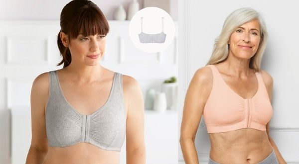 front closure best mastectomy bra amoena ellen black