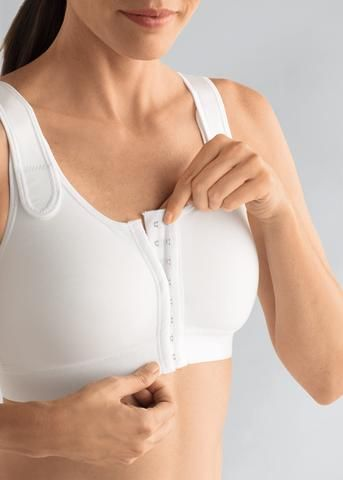 front fastening post surgery bra amoena