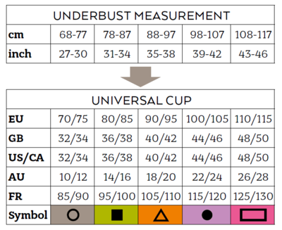 post op bra compression front fastening bra size chart
