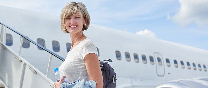 flying after breast cancer surgery- travelling with breast form - airport security, airline screening