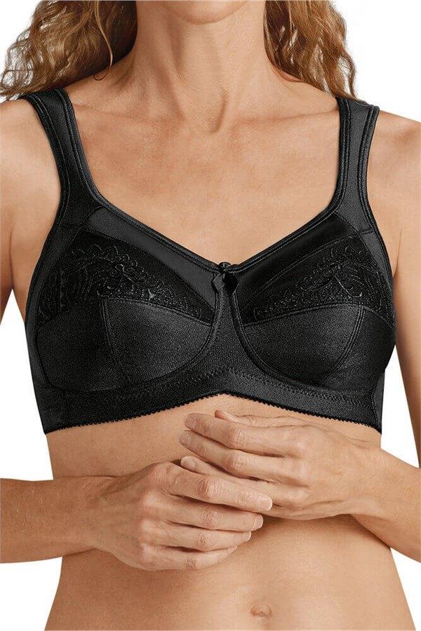 aa9f61fa5d Isadora Wire-Free Mastectomy Mastectomy Bra - black