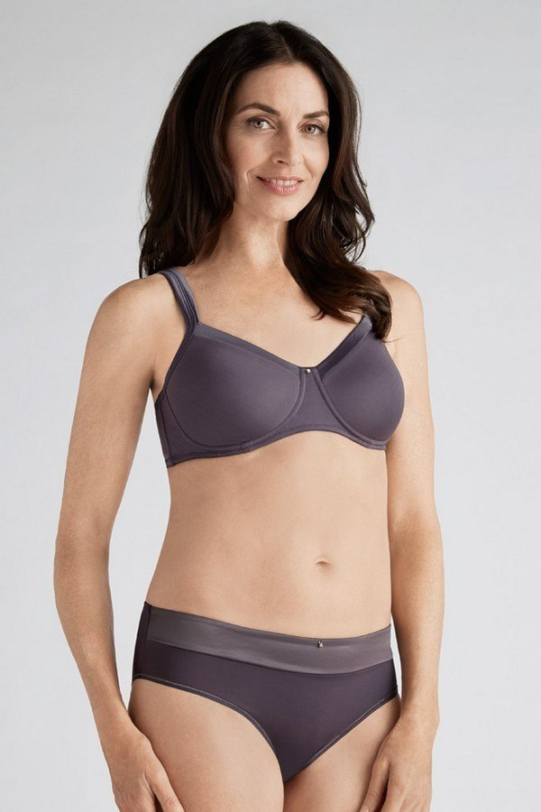 Lara Satin Non-Wired Soft Bra