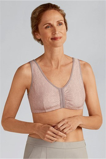 Frances Wire-Free Front Closure Bra - front closure