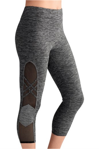 Melange sport capri tights - träningstights