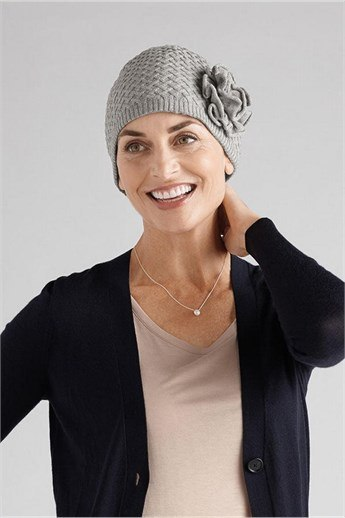 Bellflower Knit Cap - on-the-go, all cotton cap